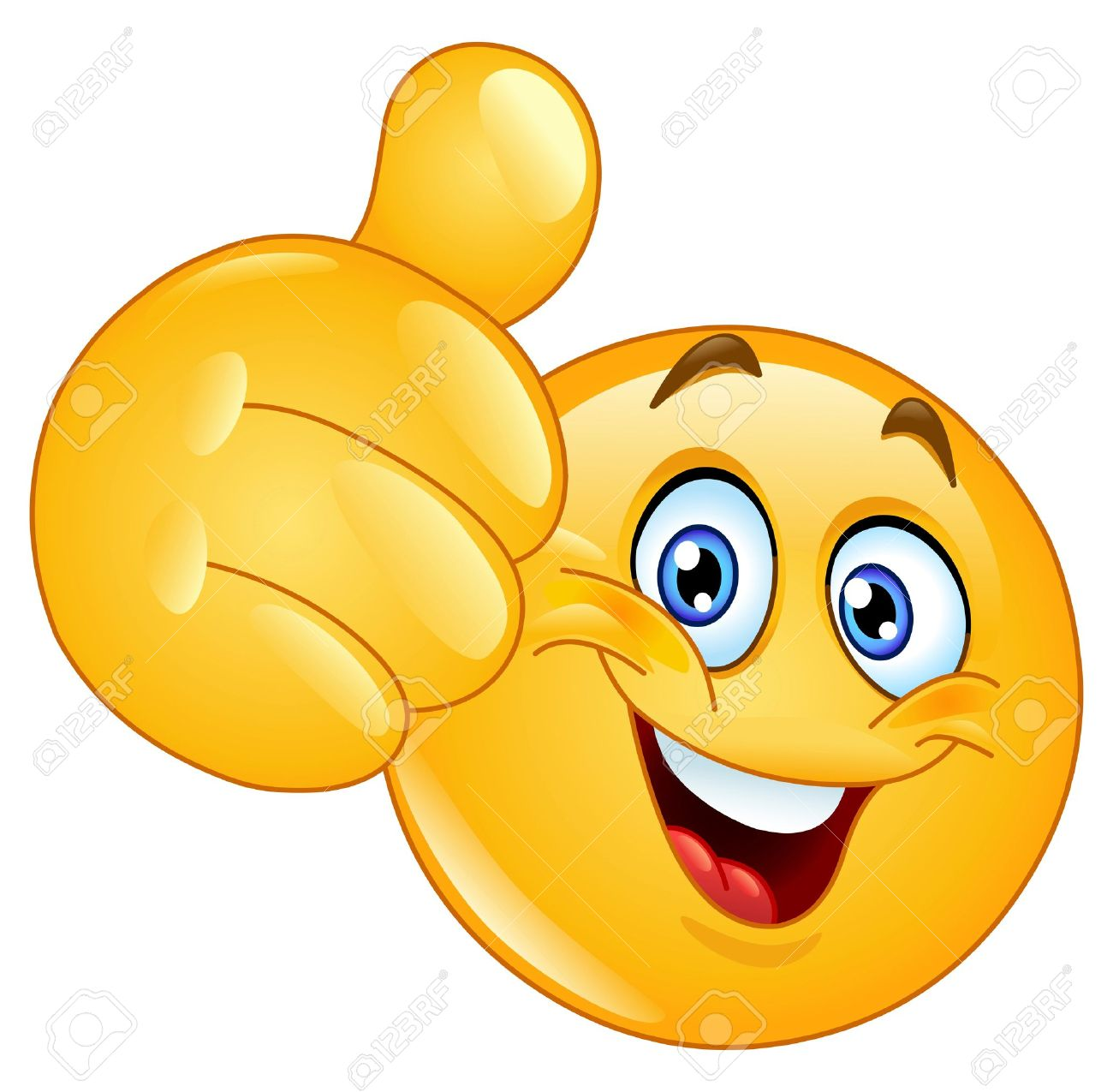 Emoticon showing thumb up - 16537110