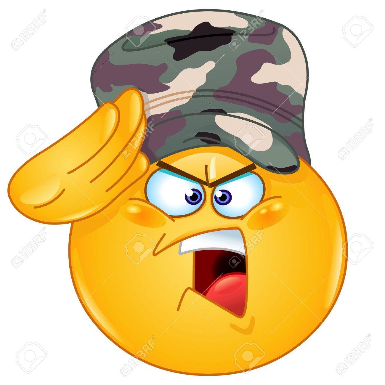 Soldado Saludando Emoticon Decir Sí Señor Ilustraciones Vectoriales ... a7f918b9ce2
