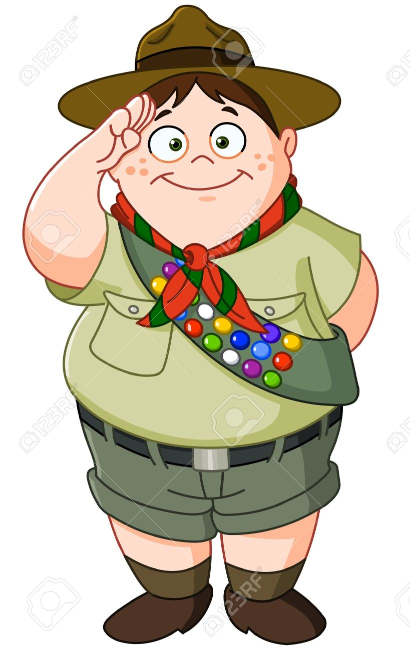 Happy Boy Scout Saluting Royalty Free Cliparts, Vectors, And Stock ...