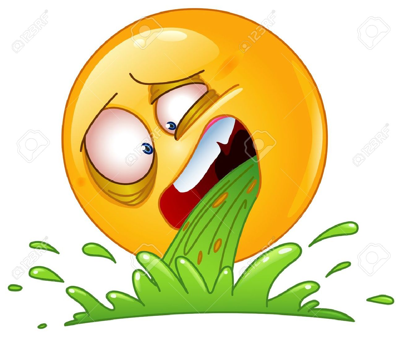 Emoticon vomiting cartoon Drunk Emoticon