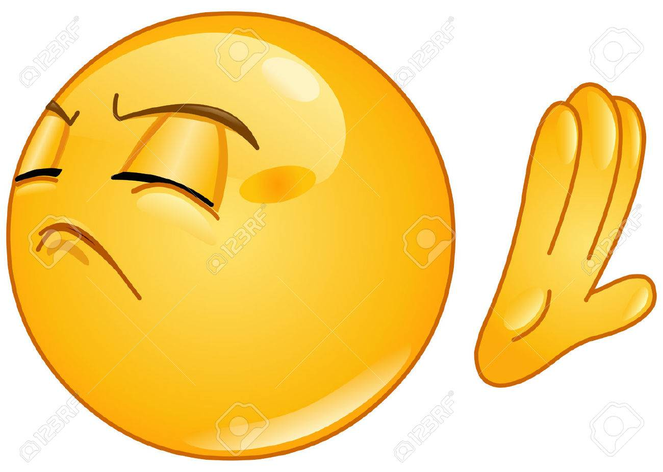 emoticon making deny sign royalty free cliparts vectors and stock