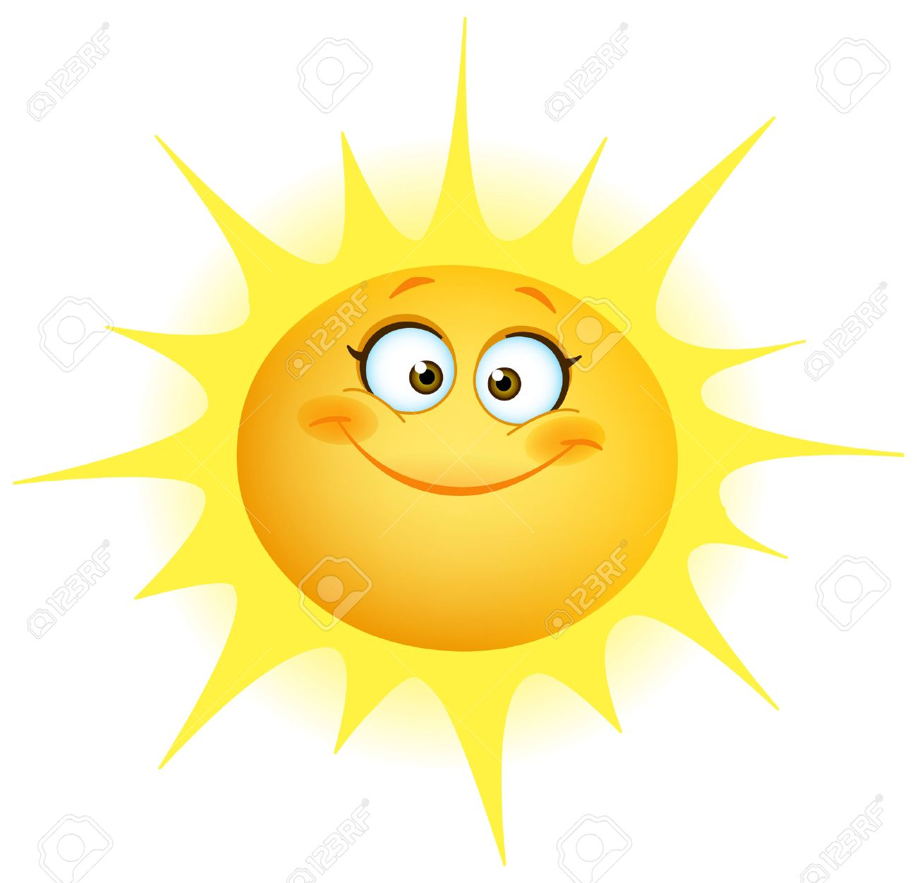 cute smiling sun royalty free cliparts vectors and stock rh 123rf com Smiling Sun with Colored Background smiling sun clipart free