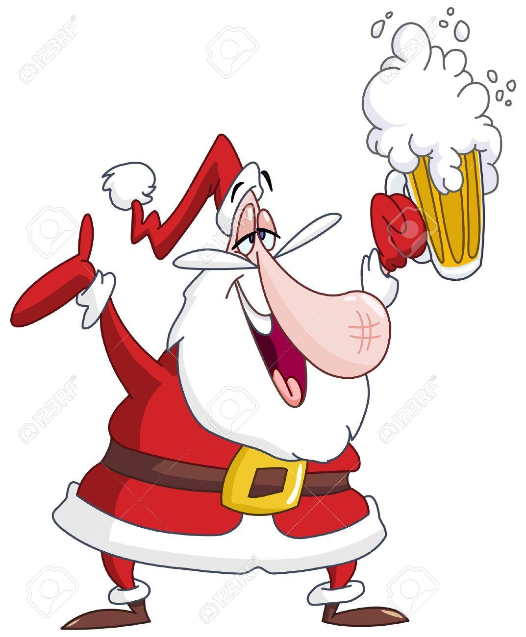 Drunk Santa Claus with beer - 33242369