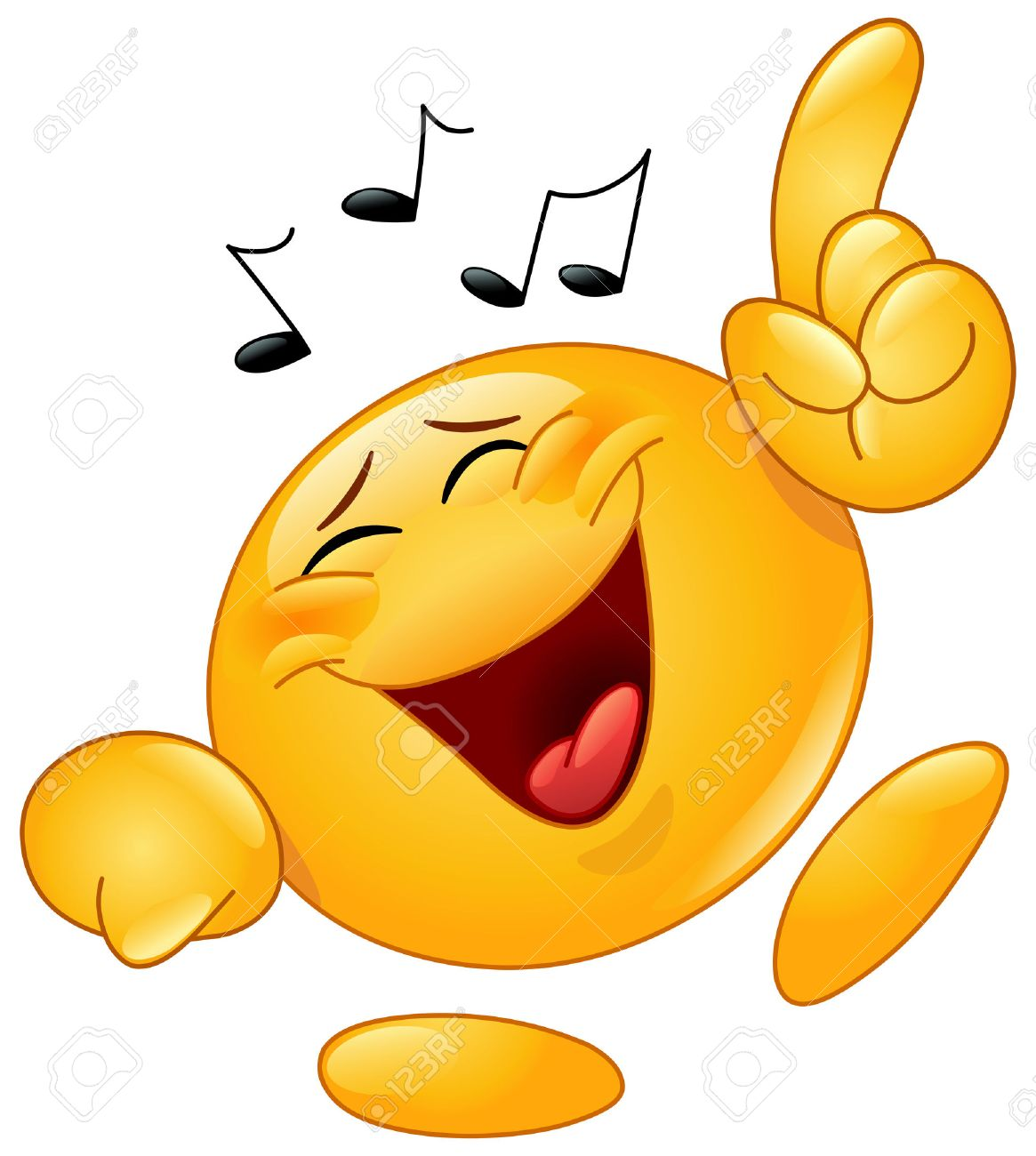 Emoticon Dancing To Music Royalty Free Cliparts Vectors And Stock
