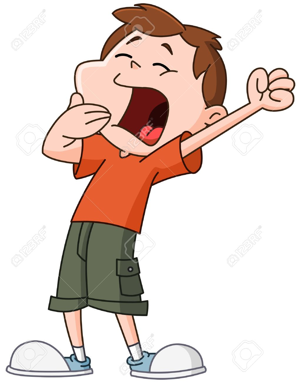 Kid Yawning And Stretching Royalty Free Cliparts, Vectors, And ... for Clipart Yawn  113lpg