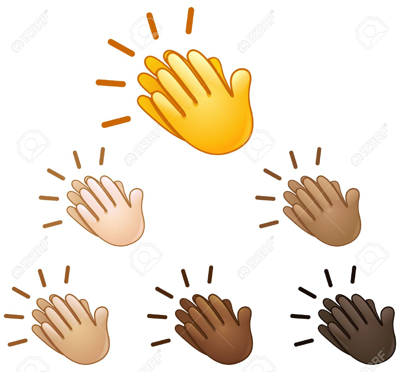 Clapping hands sign emoji set of various skin tones royalty free clapping hands sign emoji set of various skin tones stock vector 63994608 biocorpaavc