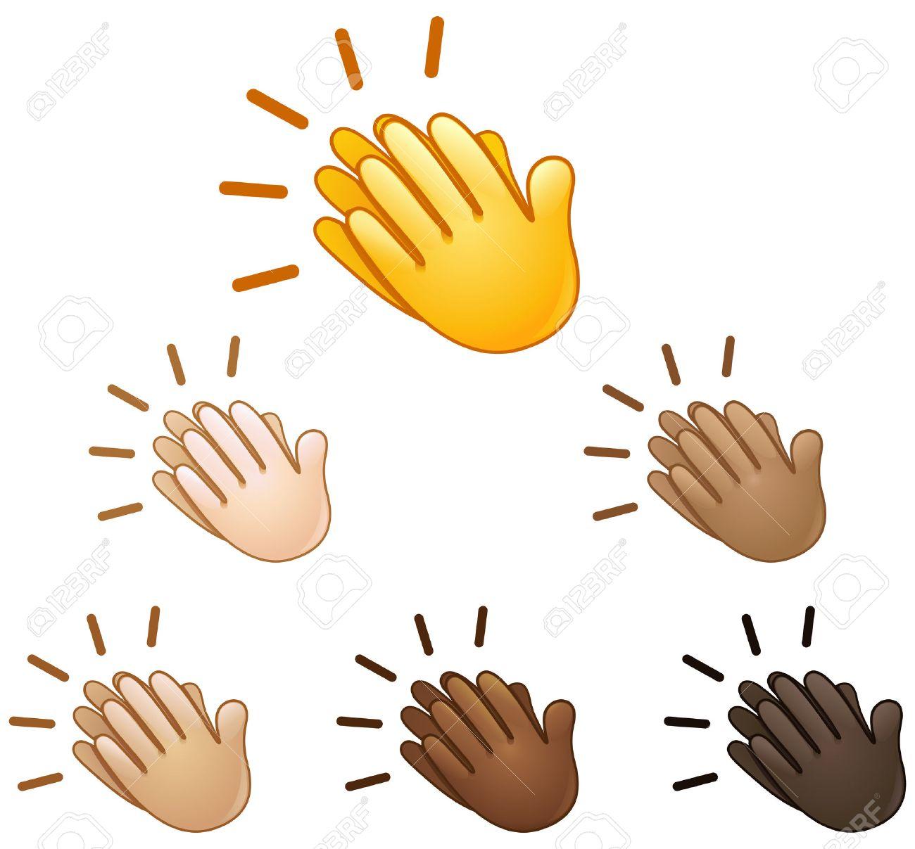 Clapping hands sign emoji set of various skin tones - 63994608