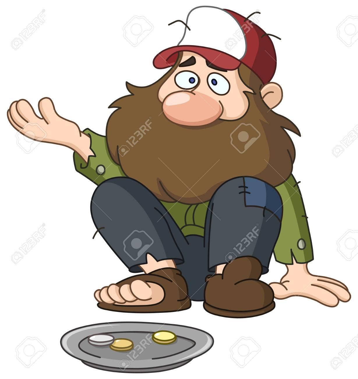 homeless beggar royalty free cliparts vectors and stock rh 123rf com homeless shelter clipart homeless clip ks2