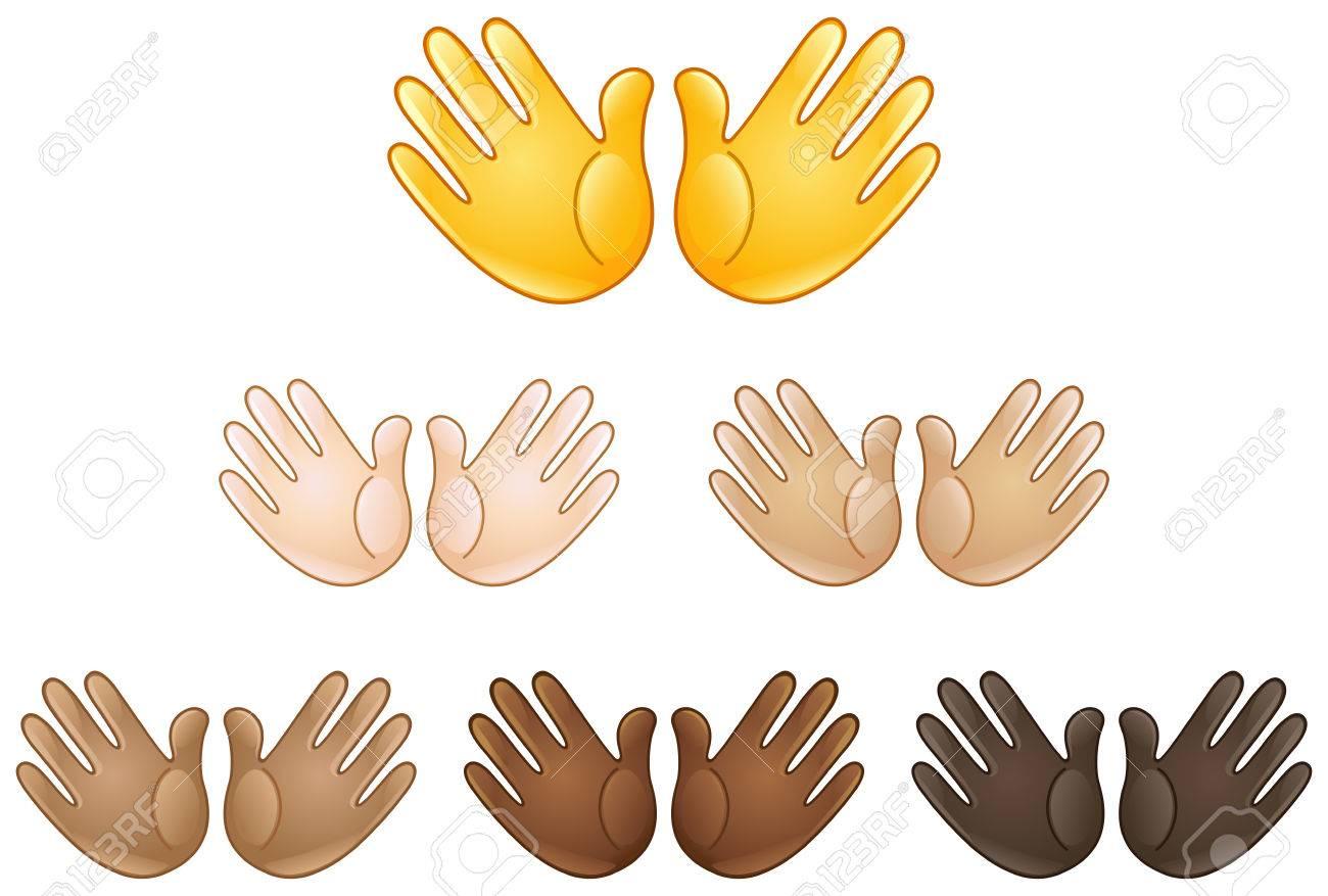 Open hands sign emoji of various skin tones royalty free cliparts open hands sign emoji of various skin tones stock vector 68924814 biocorpaavc