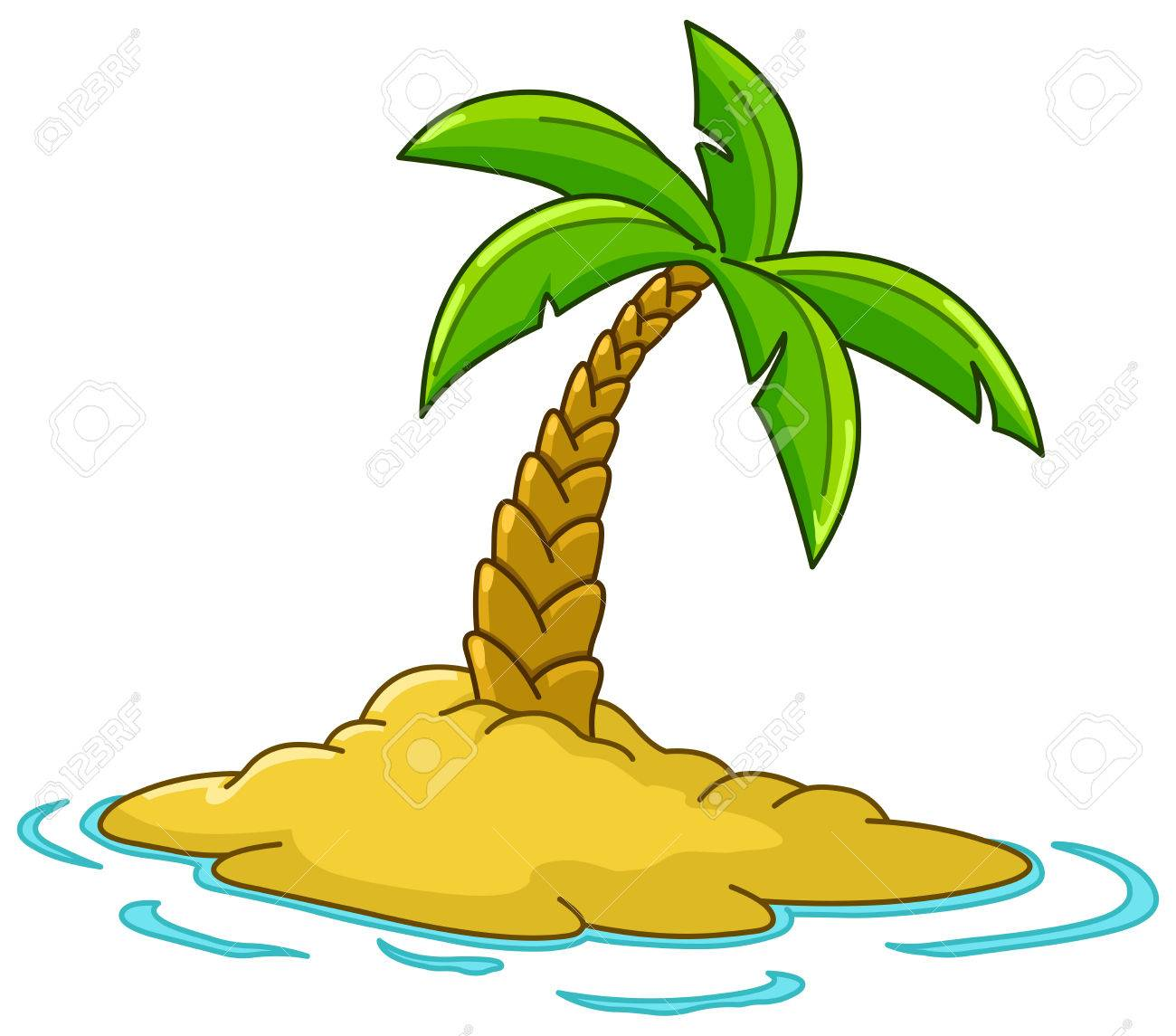 desert island with palm tree royalty free cliparts vectors and rh 123rf com island clipart png island clip art from above