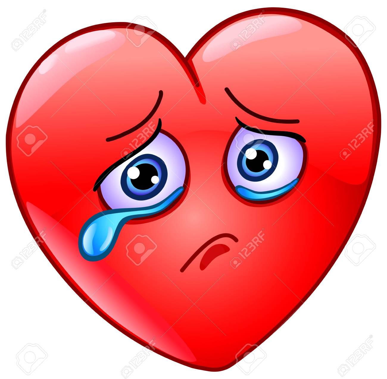 Conception D Icone Emoticone Coeur Triste Et Qui Pleure Clip Art Libres De Droits Vecteurs Et Illustration Image 89397107