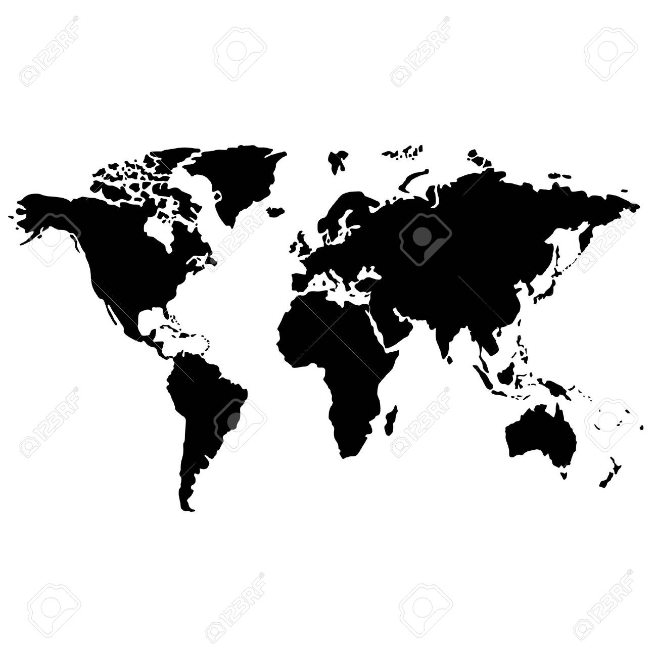 Black and white world map royalty free cliparts vectors and stock black and white world map stock vector 35818068 gumiabroncs Image collections