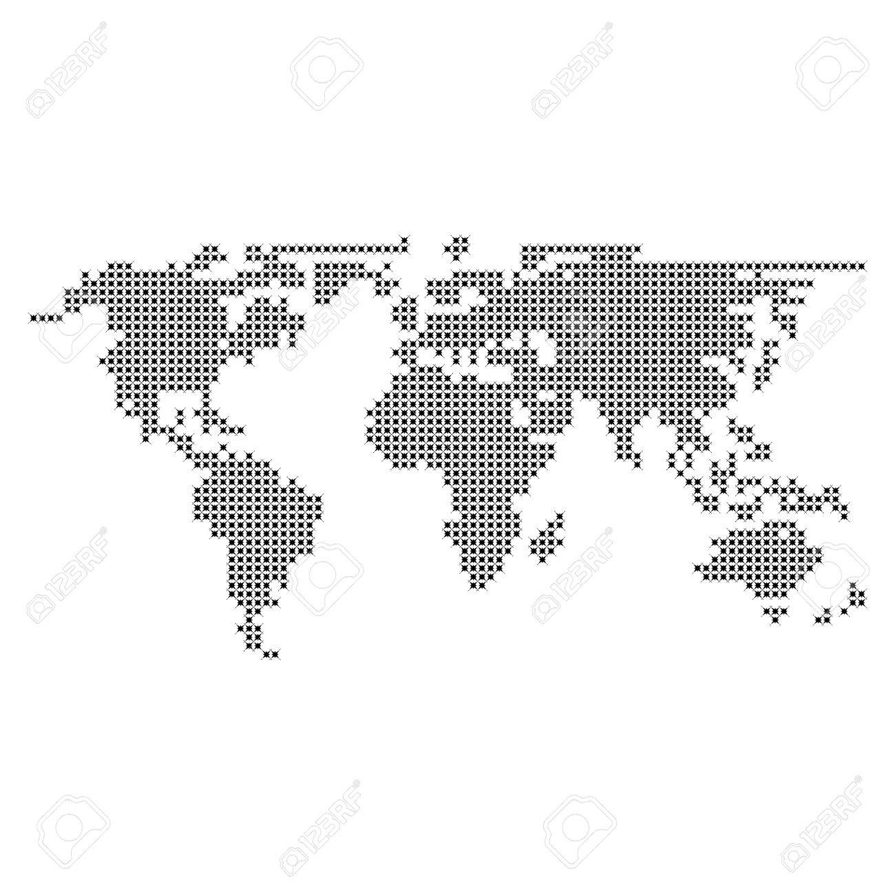 Dotted world map vector dotted world map vector stock vector 36648018 gumiabroncs Image collections