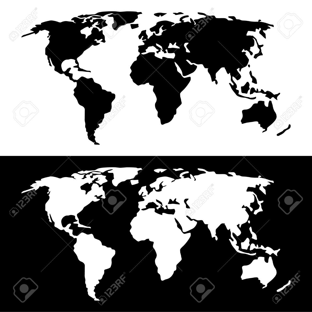 World map black and white royalty free cliparts vectors and stock world map black and white stock vector 36648028 gumiabroncs Image collections