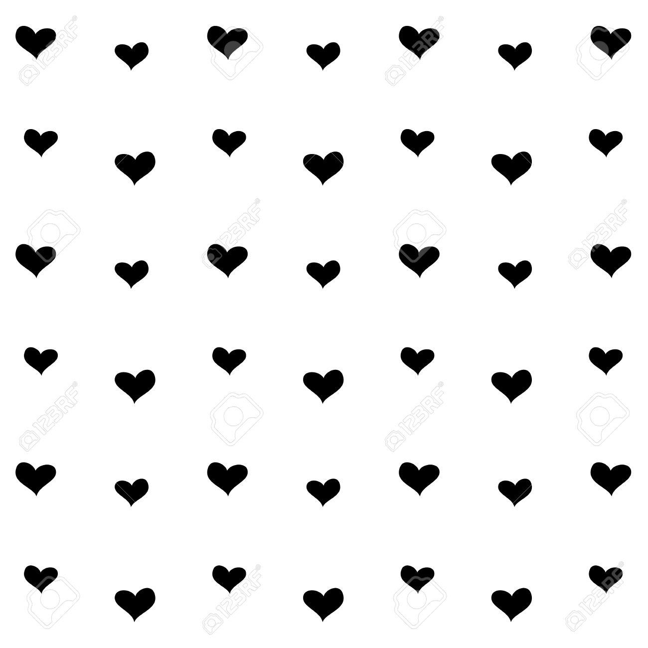 banque dimages motif coeur noir et blanc fond