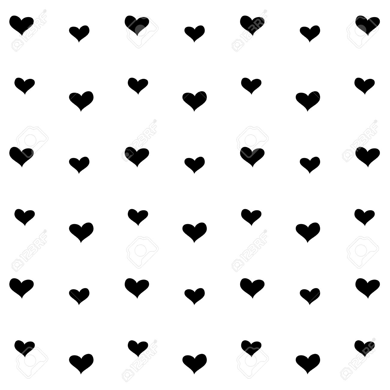 Hearts Images Black And White