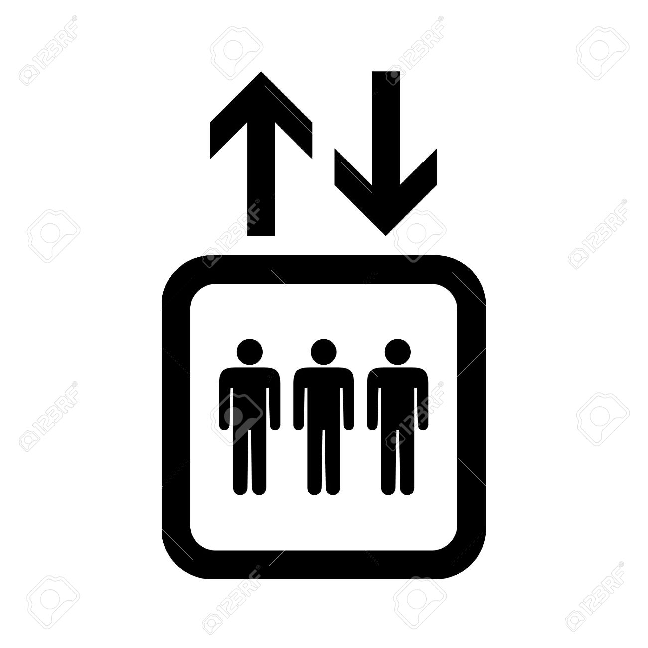 lift or elevator symbol on white backgroundvector eps10 royalty free