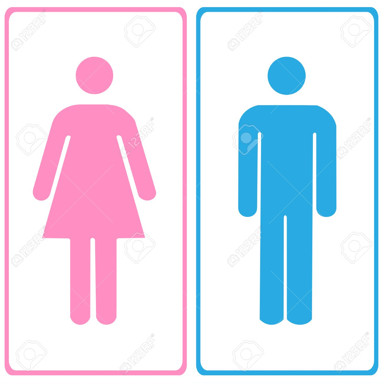Bathroom Sign Male Vector vector a man and a lady toilet sign illustration royalty free