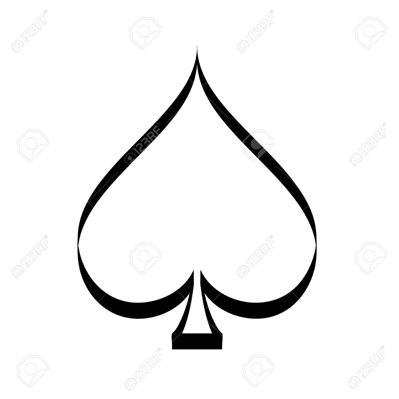 spade card photo  Vector playing card spade suit flat icon for apps and websites,..