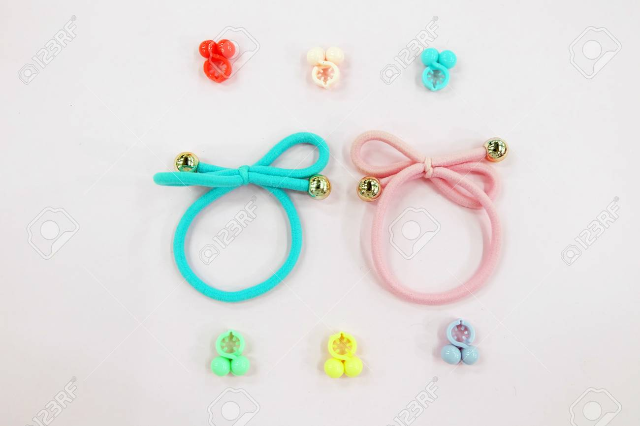 Hair Accessories For Lady So Cute Hair Cyan Elastic Band With