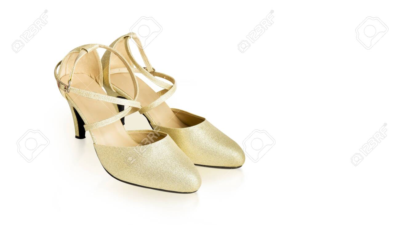 2957b79b9ad Gold High Heels Shoes Woman for Fashion. Beautiful Luxury High-Heeled..