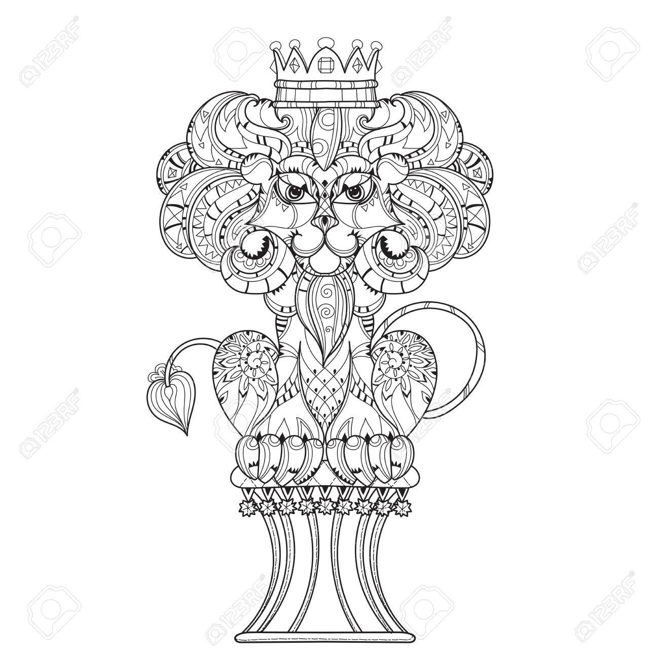 Hand Drawn Doodle Outline Lion Decorated With Crown Royalty Free Cliparts Vectors And Stock Illustration Image 56728295 Glass crown candle holder watch box dongguan crown win crown lip gloss tube lion sculpture tiaras and crowns 1,169 lion with crown products are offered for sale by suppliers on alibaba.com, of which bracelets & bangles accounts for 4%, metal crafts. 123rf com