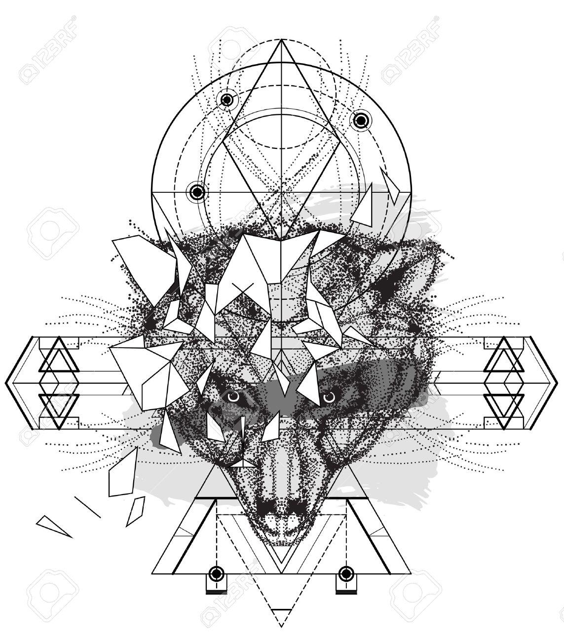 Tete D Ours D Animaux Icone Triangulaire La Conception Geometrique