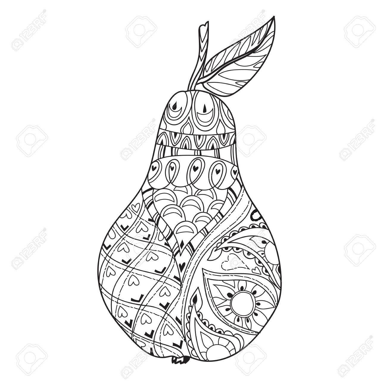 La Miel De Pera Doodle De .Hand Dibuja Ilustración Vectorial. Boceto ...