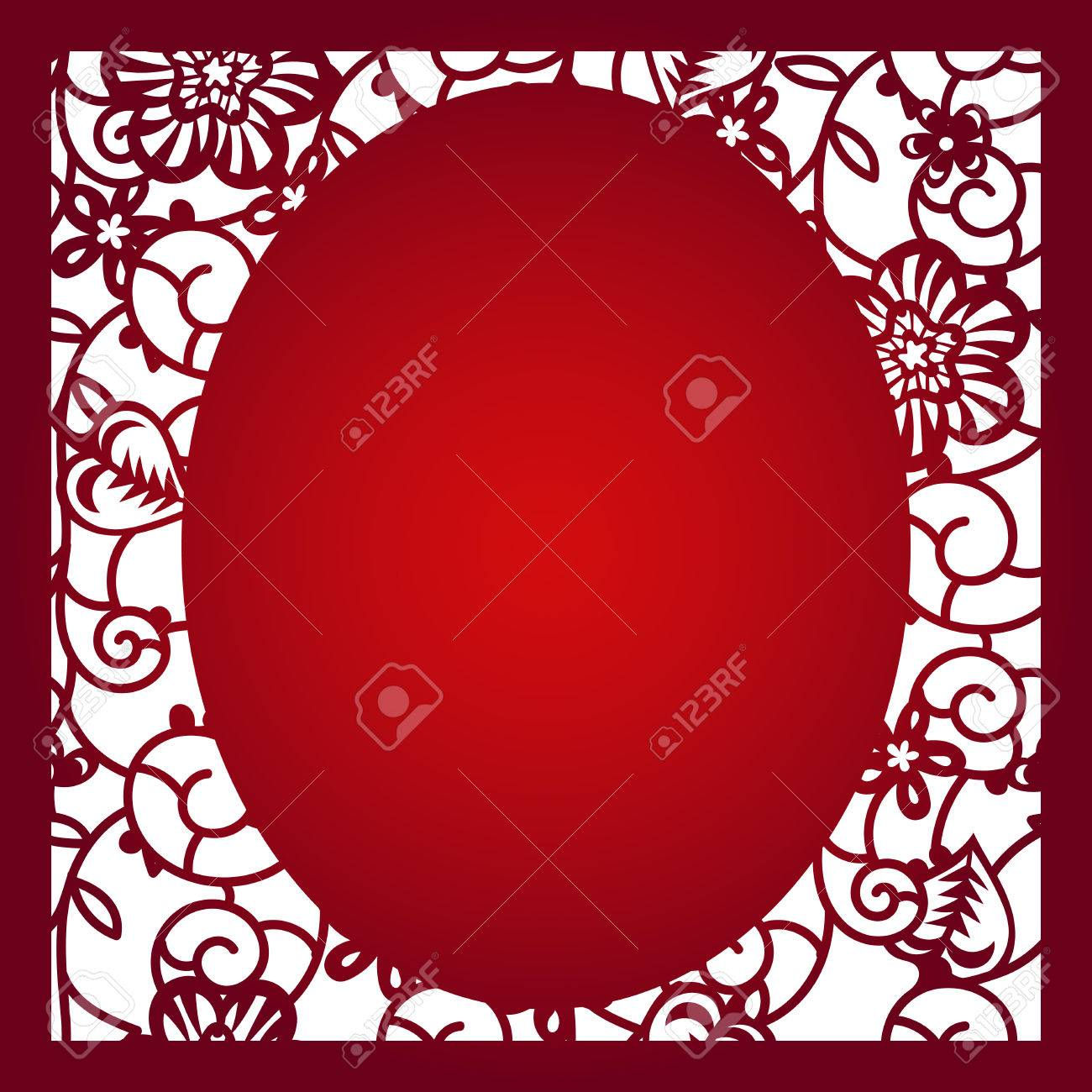 Laser cut flower pattern for decorative panel vector template laser cut flower pattern for decorative panel vector template ready for printing postcards packets stopboris Choice Image