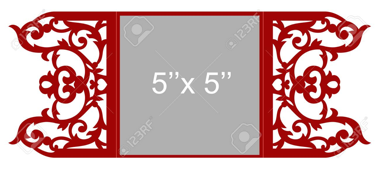 Laser Cut Template Design. Royalty Free Cliparts, Vectors, And Stock ...
