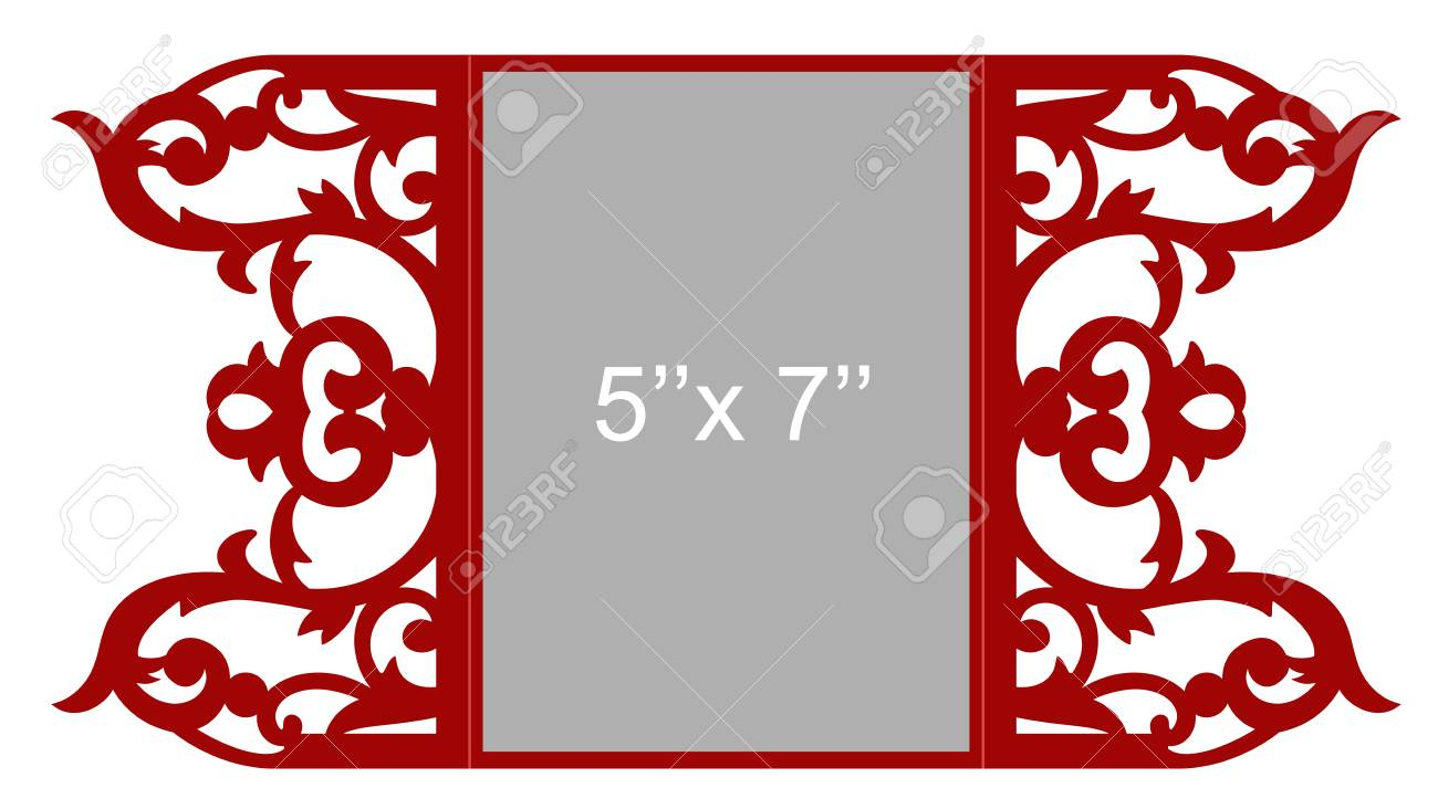 Laser Cut Vector Template Royalty Free Cliparts, Vectors, And Stock ...