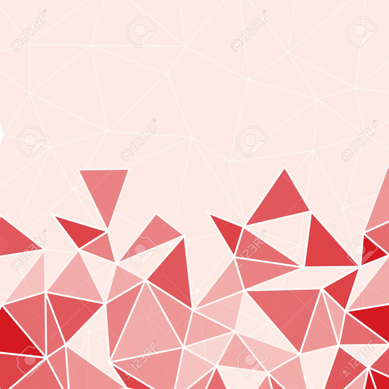 Geometric Polygon Abstract Background Of Red With Space For Text