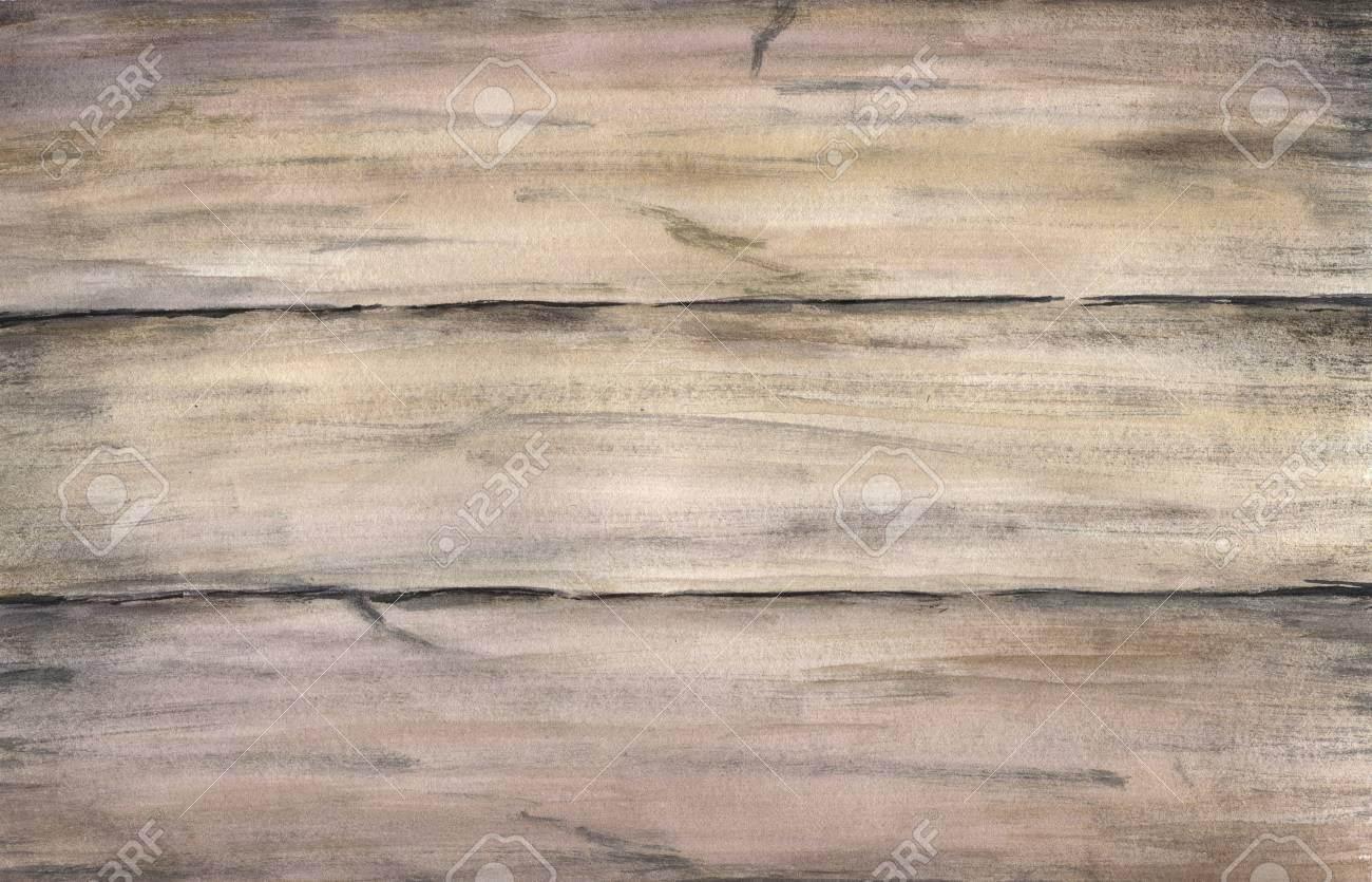 Texture Bois Avec De Vieilles Planches Peintes Main Aquarelle Dessin Illustration Réaliste Artistique Pour La Conception L Arrière Plan Le Textile