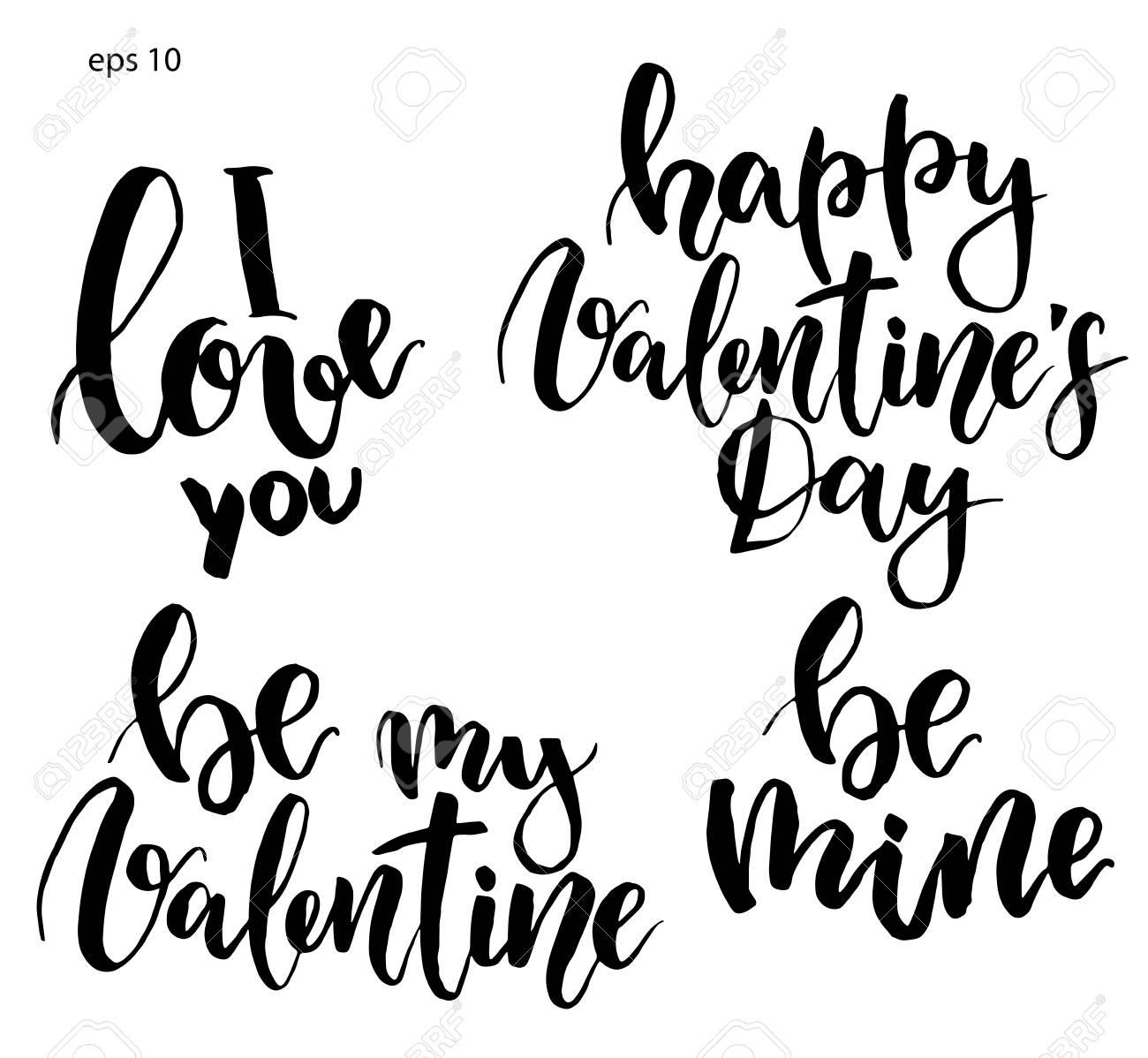 Rotulação De Vetor Frase Pintada Eu Te Amo Seja Meu Namorado Seja Meu Feliz Dia Dos Namorados Impressão De Férias