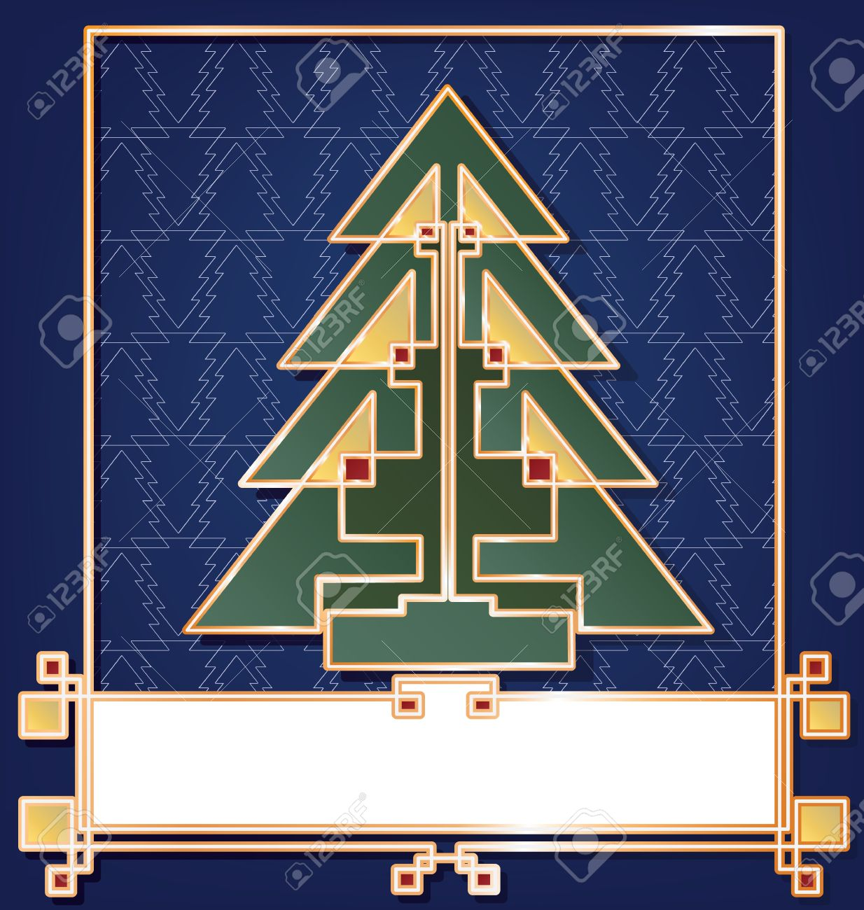 Christmas Card Background Stylized In Art Deco Enamel Bijou Look ...