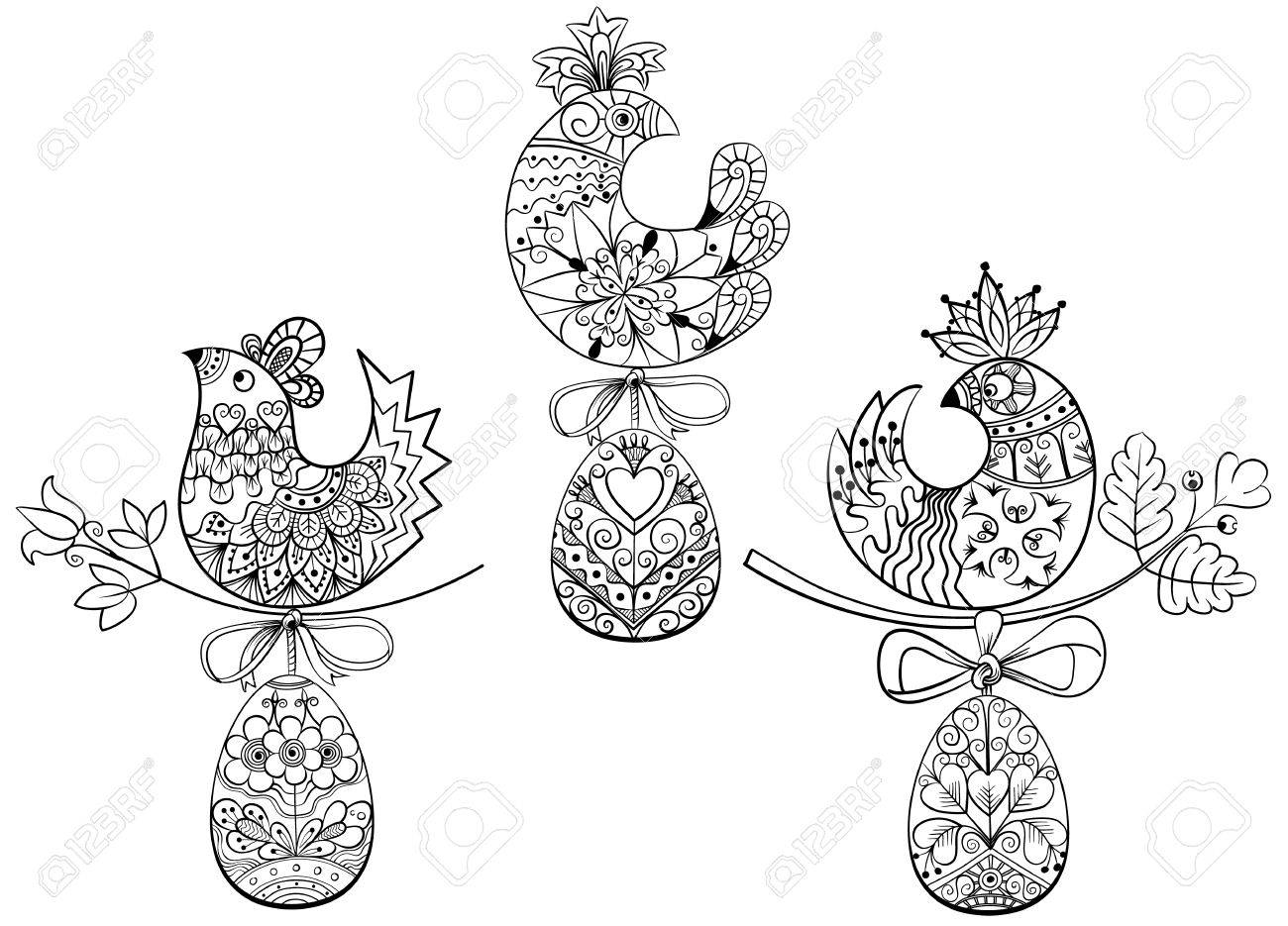 74 easter coloring page stock illustrations cliparts and