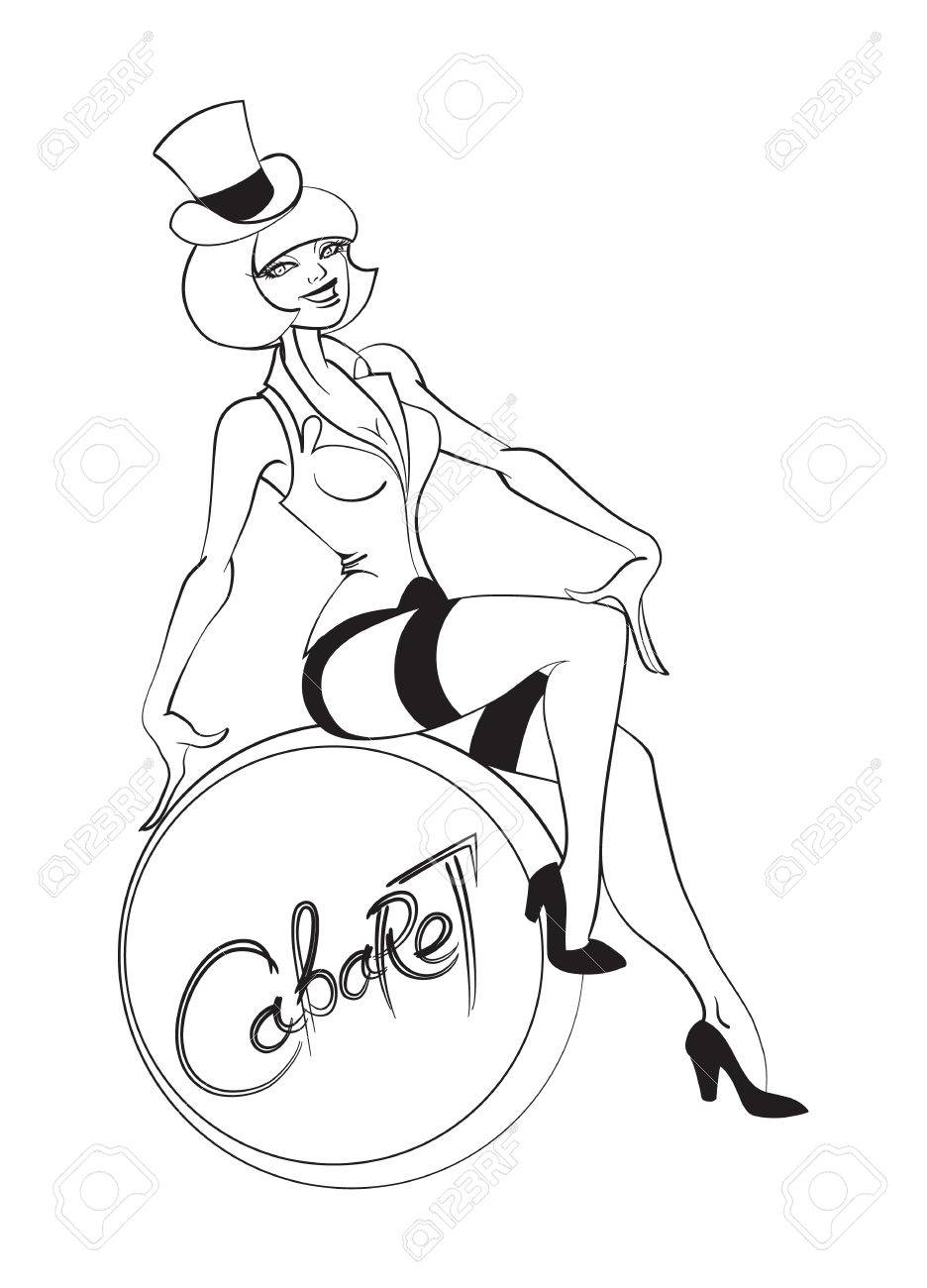 Artist Perform A Cabaret Or Burlesque Show Royalty Free Cliparts ...