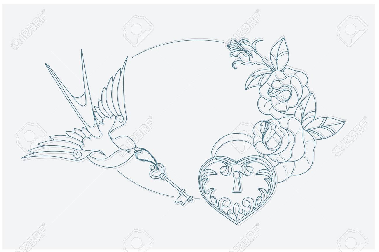 Coloriage Theme Ecole.Coloriage Motif Avec De Vieux Symboles De Theme De L Amour De