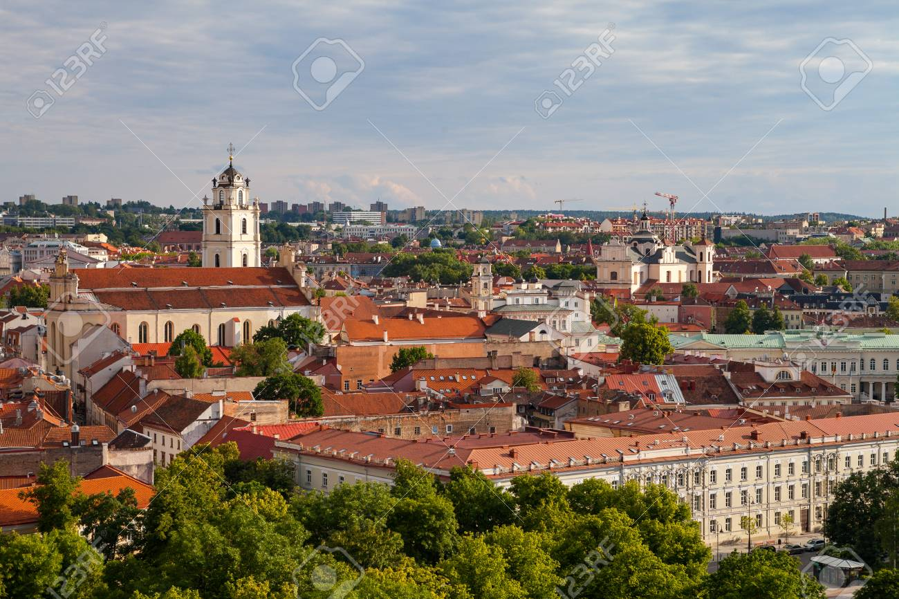 3d34724160 Old Town Of Vilnius ,Lithuania, Summer Time Stock Photo, Picture And ...