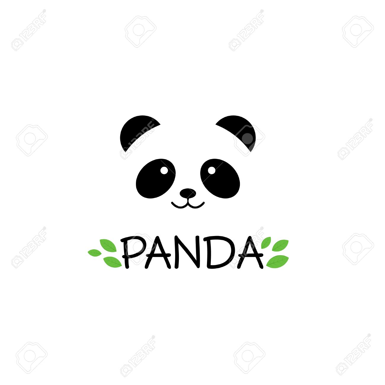 panda sign panda panda vector illustration panda head vector