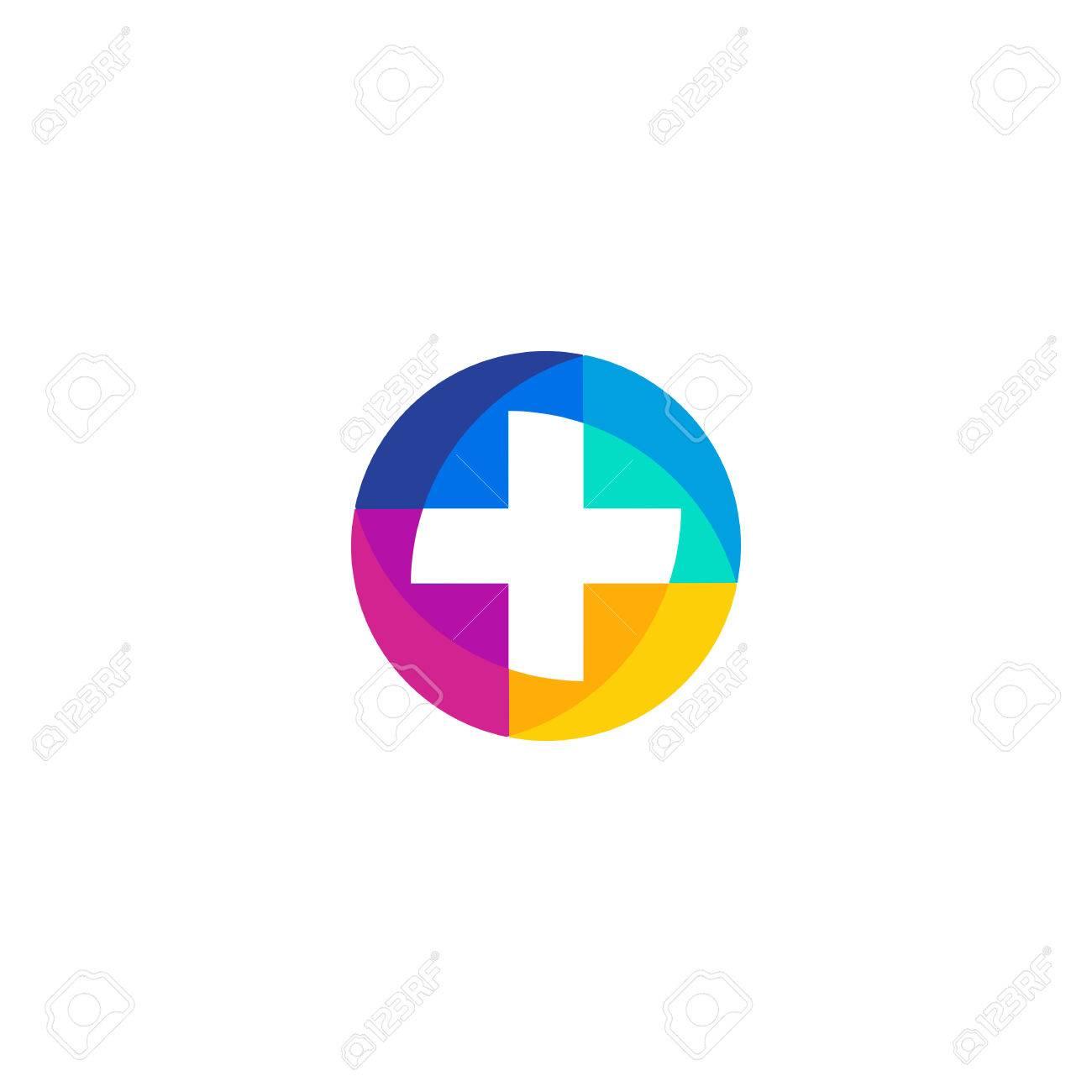 Sanitäter symbol  Vector Isoliert Ungewöhnlich Bunten Logo. Medic Logo. Kreuz-Logo ...