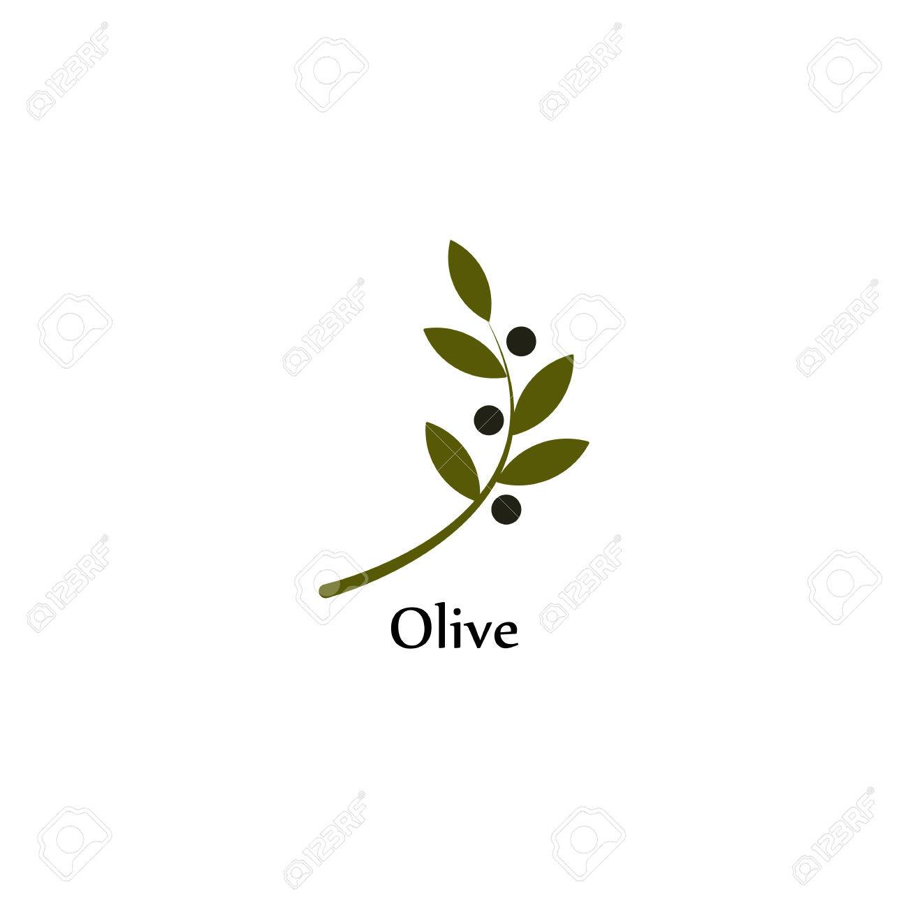 Isolated green vector olive branch olive oil sign symbol of isolated green vector olive branch olive oil sign symbol of peace greek religious buycottarizona Choice Image