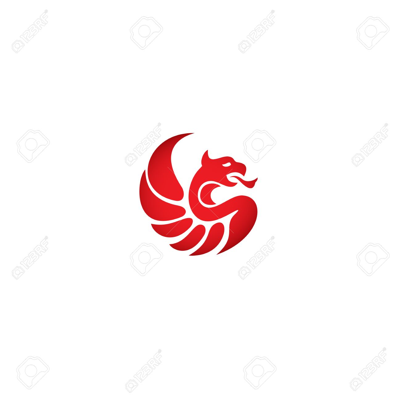 Logotipo Del Estilo De La Silueta, Plantilla Icono. Diseño De ...