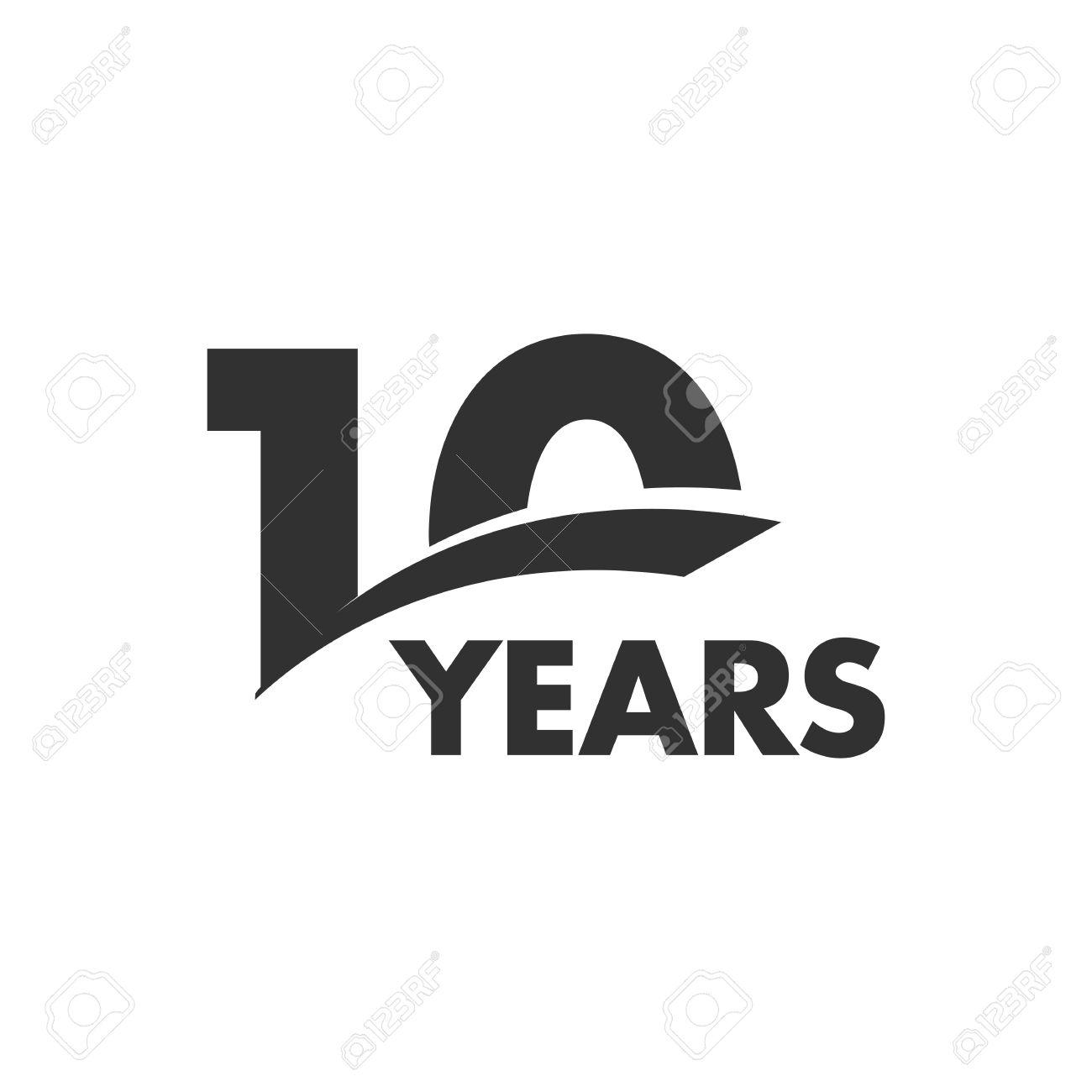 Isolated abstract 10 years anniversary vector logo happy 10th isolated abstract 10 years anniversary vector logo happy 10th birthday greeting card black color biocorpaavc