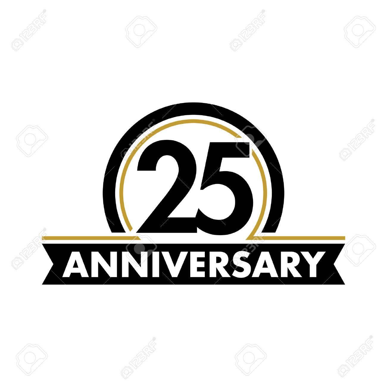 anniversary vector unusual label twenty fifth anniversary symbol rh 123rf com 25 years logo vector free 25 years logo ideas