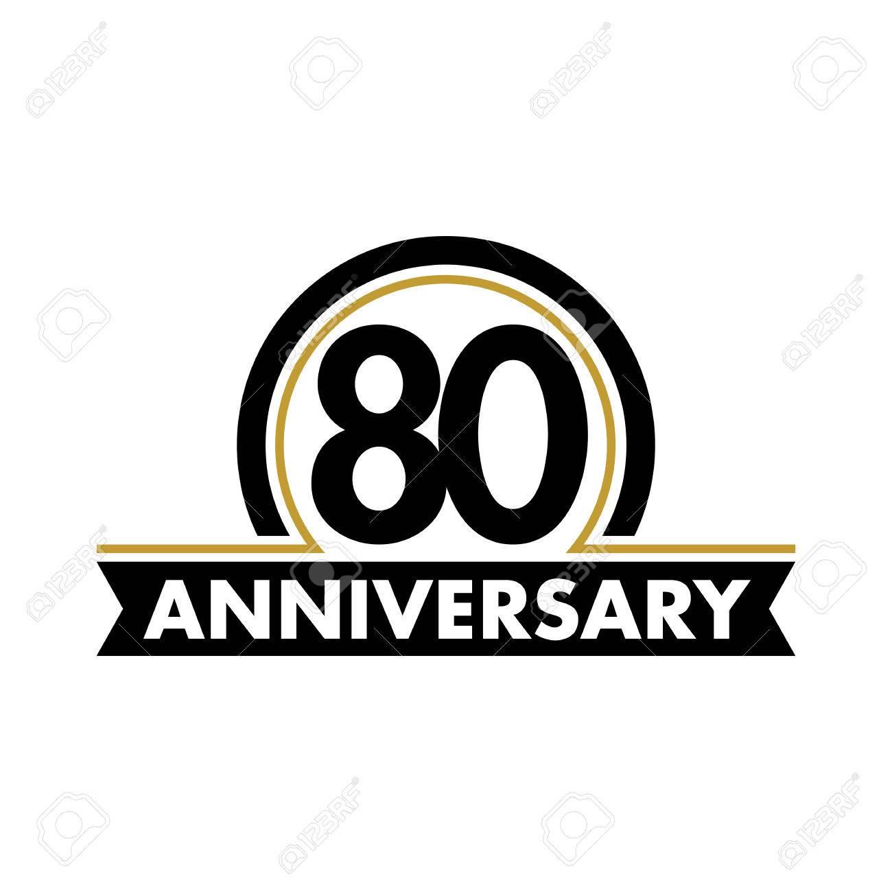 Anniversary vector unusual label seventieth anniversary symbol anniversary vector unusual label seventieth anniversary symbol 80 years birthday abstract logo the biocorpaavc