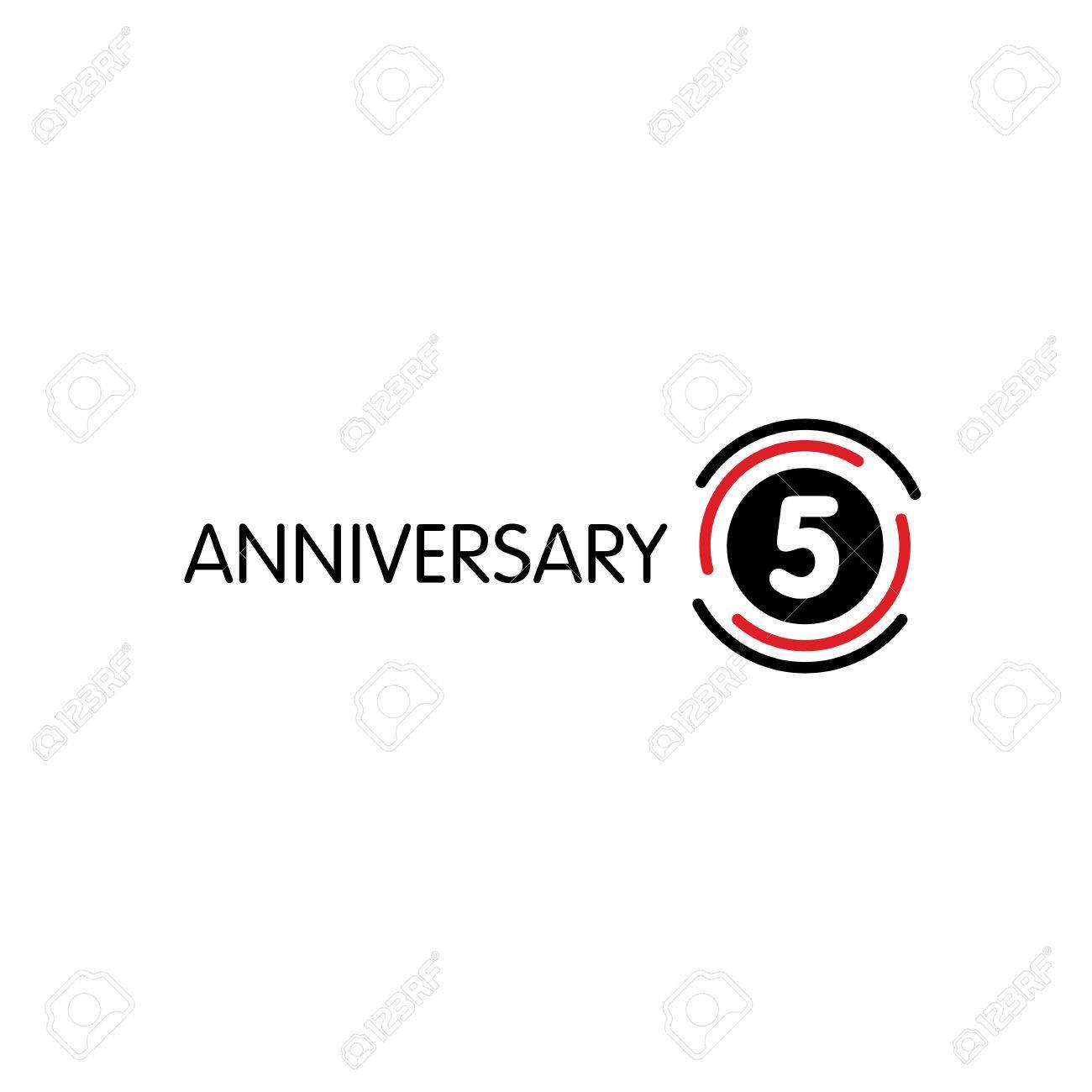 Anniversary vector unusual label fifth anniversary symbol 5 anniversary vector unusual label fifth anniversary symbol 5 years birthday abstract logo the biocorpaavc Choice Image