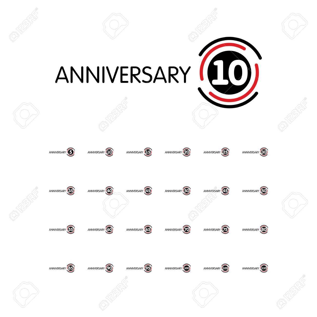 Anniversary Vector Unusual Label Eighty Fifth Anniversary Symbol
