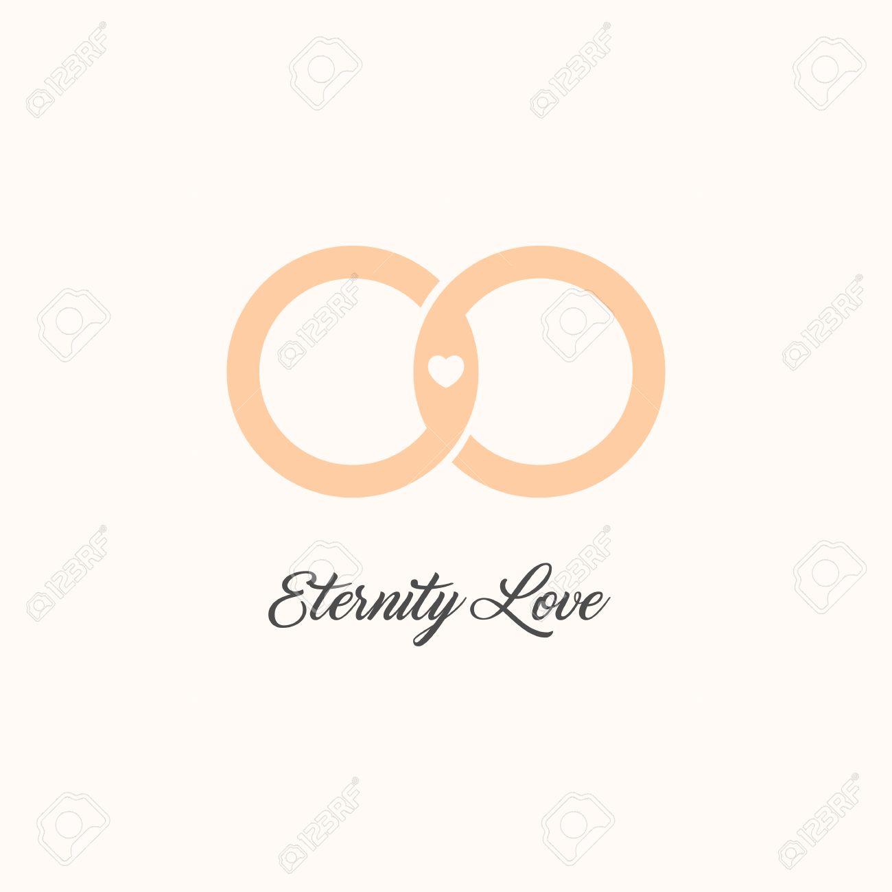 Eternity love vector logo wedding gold rings endless love eternity love vector logo wedding gold rings endless love isolated symbol unusual design biocorpaavc Images