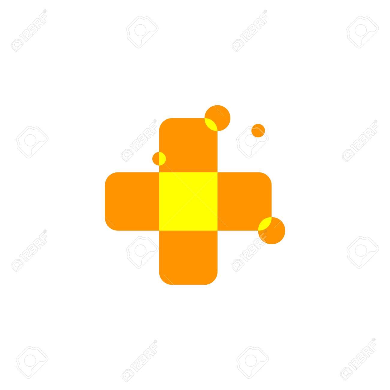 Isolated abstract orange color cross logo medical logotype isolated abstract orange color cross logo medical logotype hospital ambulanceclinic icon biocorpaavc
